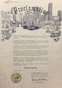 Last week, the city of Houston honored Sept. 17 as Citizenship Day through this proclamation